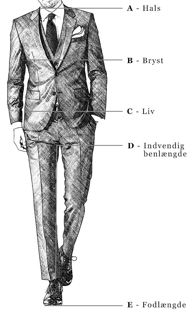 98deac9c Størrelsesguides - hjælp til størrelser på tøj til mænd